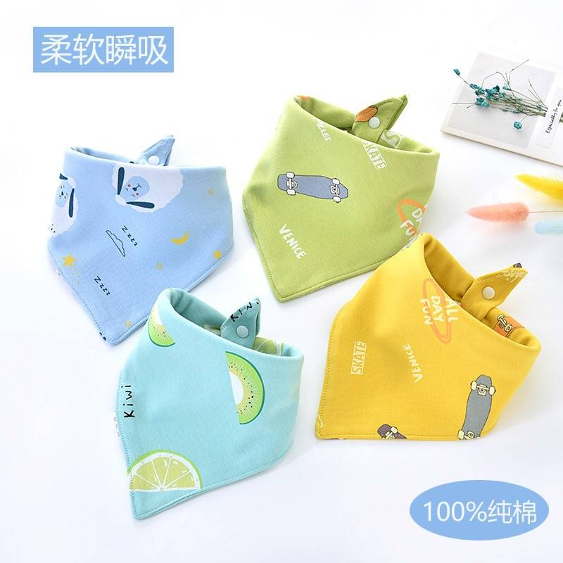 Chinese Professional Bib With Sleeves - Children's cartoon saliva towel – Ruisheng
