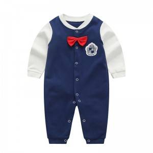 Low price for Softshell Kids - Male baby one-piece cotton long-sleeved baby romper – Ruisheng