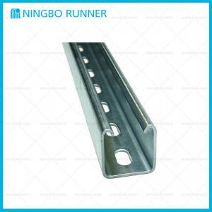 Professional China Pipe Attachments - 41*41 C-Channel for Steel Channel Support System with Punched Holes – Ningbo Runner