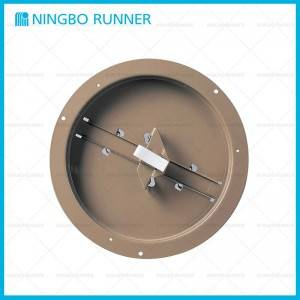 Short Lead Time for Hvac Installation - Accessories-Steel-Round-Duct-Ring-with-Butterfly-Damper-Brown – Ningbo Runner