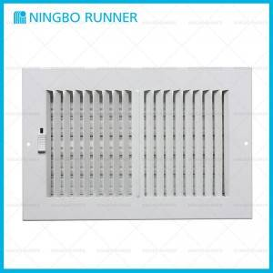 High reputation Commercial Hvac Maintenance - Steel Register 2-way-with Damper Sidewall Ceiling Register White – Ningbo Runner