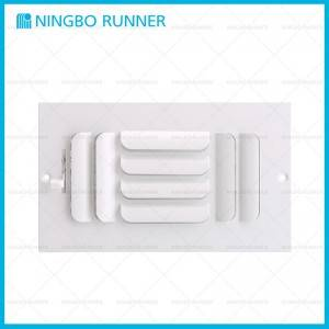 Hot-selling Hvac Not Turning On - Steel Curved Blade Register 3-Way-with Damper and Metal Lever Sidewall Ceiling Register White – Ningbo Runner