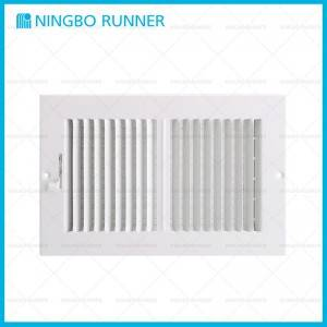 2021 wholesale price Hvac Flexible Duct - Steel Register 2-Way-with Damper and Metal Lever Sidewall Ceiling Register White – Ningbo Runner