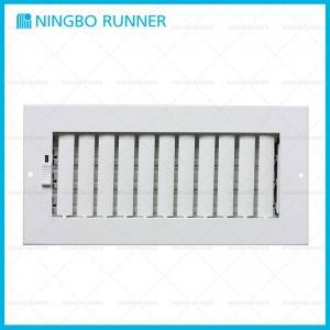 Good User Reputation for Steel Return Grille - Steel Register with Damper Sidewall Ceiling Adjustable Register White – Ningbo Runner