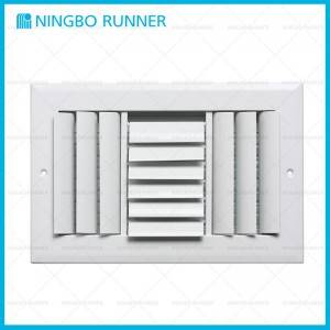 Manufacturer of Plastic - Aluminum Curved Blade Adjustable Register 3-Way-with Damper Sidewall Ceiling Register White – Ningbo Runner