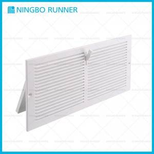 OEM/ODM China Home Hvac - Steel Register with Damper Sidewall Ceiling Register White  – Ningbo Runner