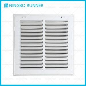 "Factory best selling Hvac Commercial - Steel Return Air Filter Grille White-1/3""Space Fin – Ningbo Runner"