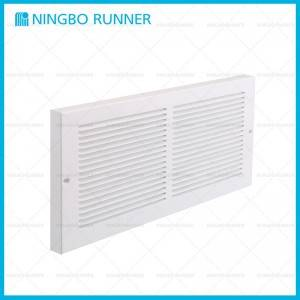 "Factory Supply 3-Cone Fixed-Pattern Diffuser - Steel Baseboard Return Air Grille 1/3"" Fin White – Ningbo Runner"