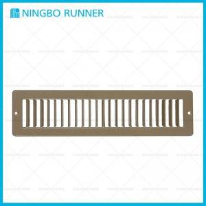 Factory best selling Aluminum Square Ceiling Diffuser 4-Way - Steel Floor Register Toe Space Grille White-and-Brown – Ningbo Runner