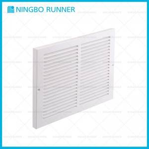 China Supplier Steel Curved-Blade Registers 2-Way - Steel Baseboard Return Air Grille White 1/2″-Space-Fins – Ningbo Runner