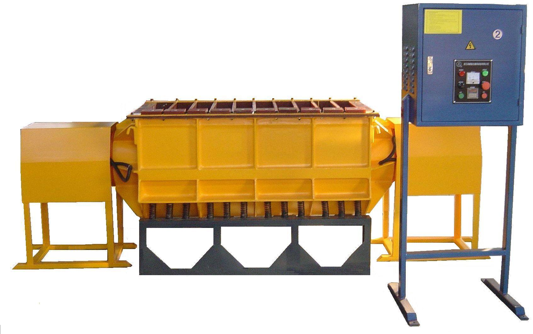 Linear type vibratory tumbling machine