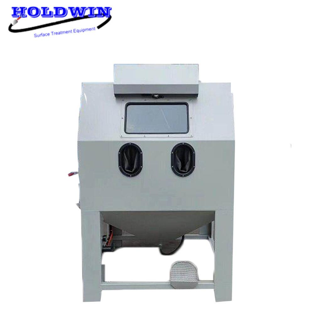 Holdwin CE Sandblasting Machine for Wheel Cleaning 1212CW Turntable Sandblast Cabinet Mold Sandblaster Equipment