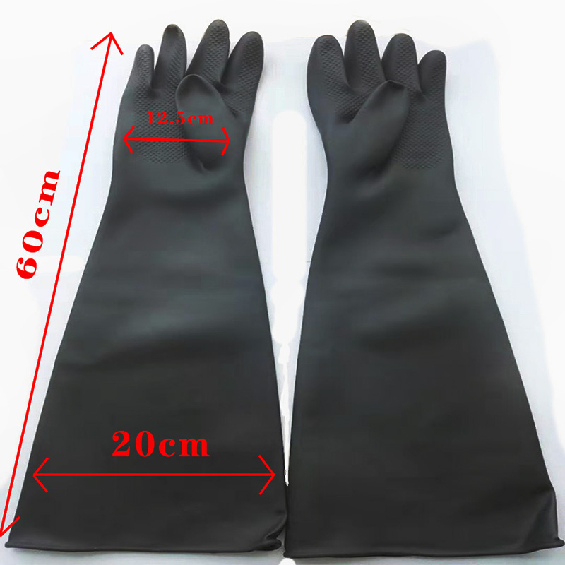 Water Sandblaster - Long Rubber gloves for sandblasting cabinet – Instant Clean