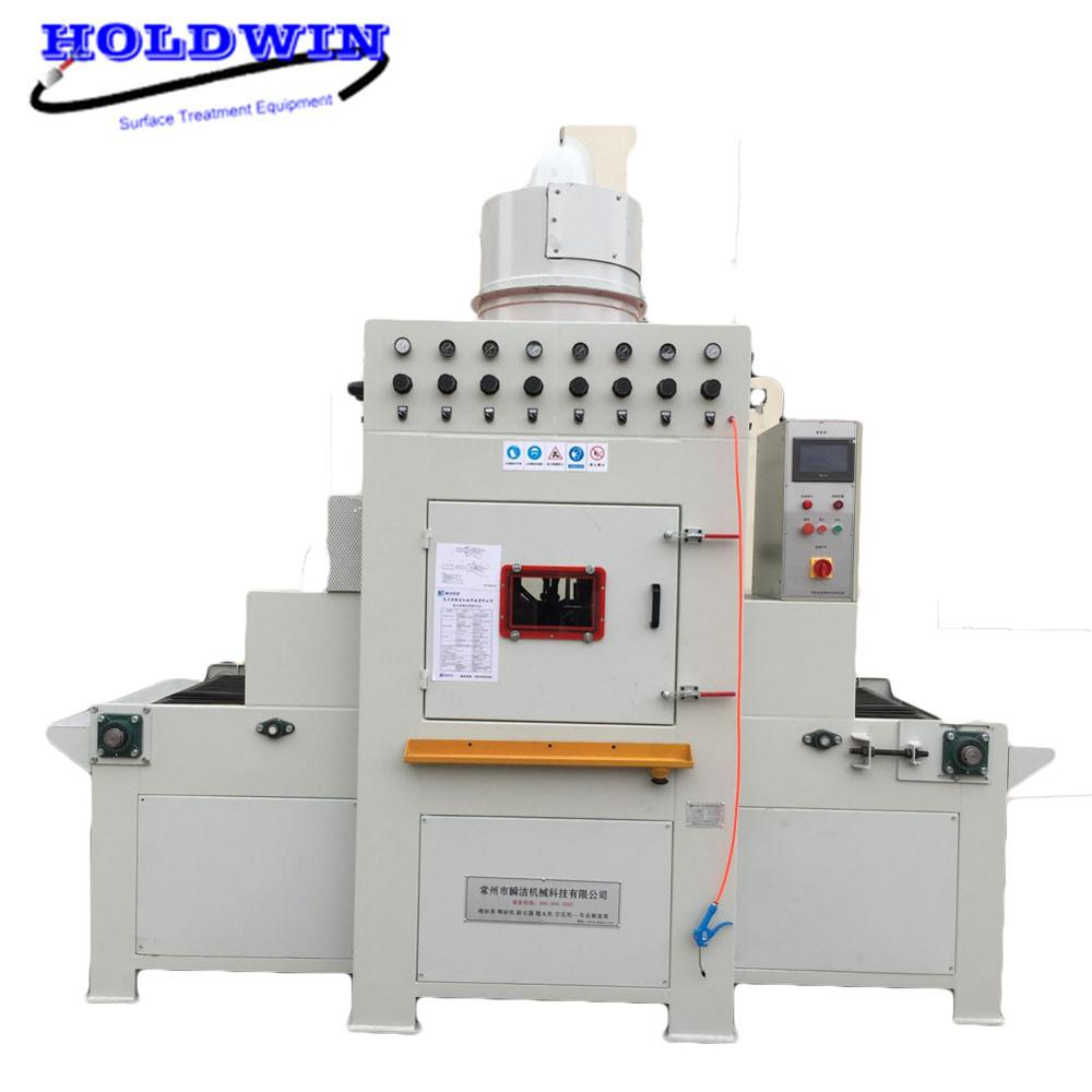 Holdwin Automatic Sandblasting Machine Conveyor Sandblast Equipment Dust Collector Sandblaster Cabinet Surface Treating