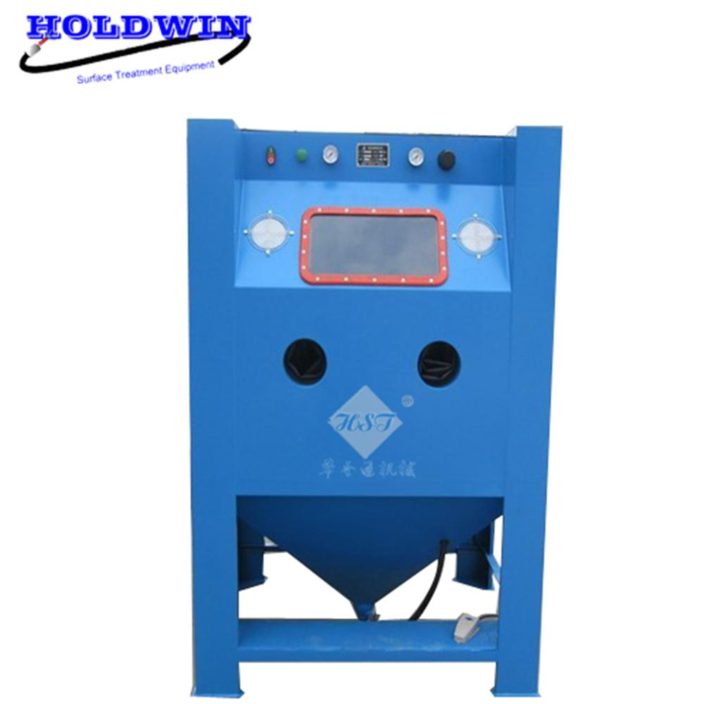 Holdwin Automatic Sandblast Machine Dry Blaster Cabinet Suction Sandblasting Equipment