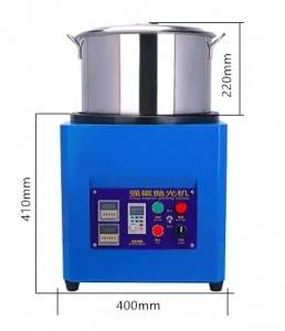 Magnetic polishing machine for small metal parts