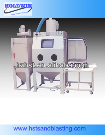 Turntable abrasive blasting equipment with filter dust collector 1212FTA