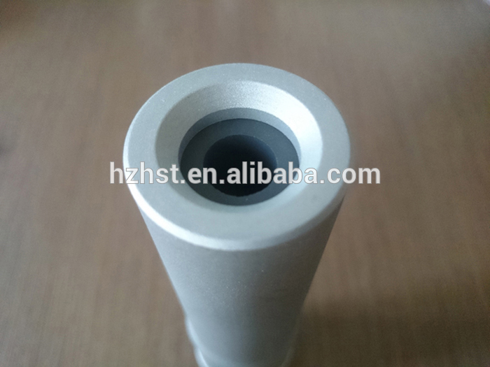 Wearable Fine thread venturi boron carbide nozzle for sand blasting