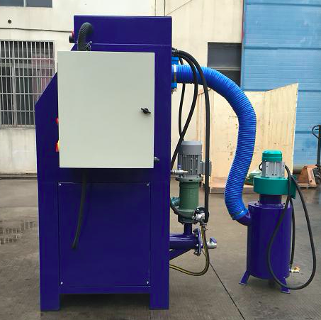 High quality wet sandblaster free dust  Water sandblast cabinet for car wheel blaster