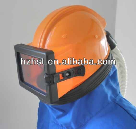shot blasting machine spares helmet