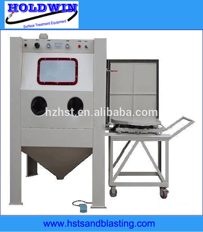turntable and cart sand blasting equipment for mold blast