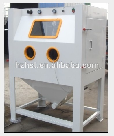 Suction sand blasting cabinet