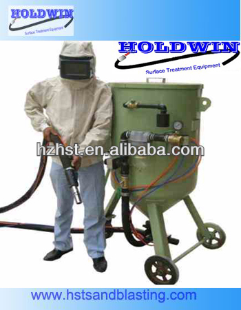 Portable Grit Sand blasting machine with blasting hose 300L