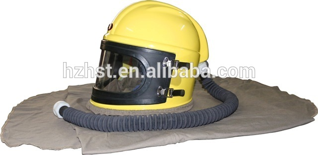 High definition Shot Blaster - sandblasting protective helmet with ABS material safety helmet protective clothing blasting caps – Instant Clean
