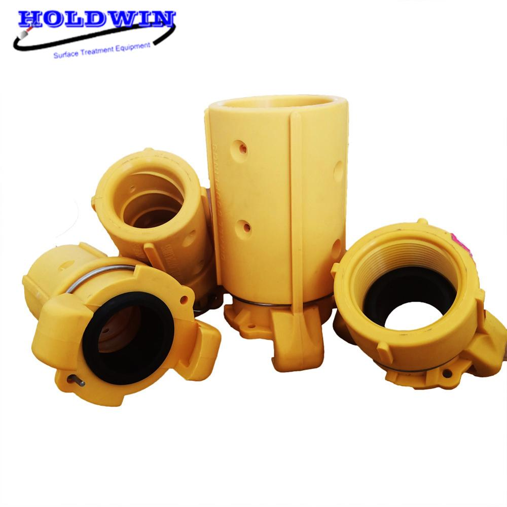 HOLDWIN Sandblaster Tube Connector Yellow Nylon Quick Connector Hose Coupling Blasting Hose