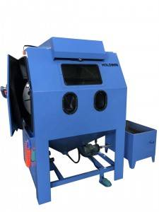 Dustless Stainless Steel Water Sand Blasting Machine for blasting wheel