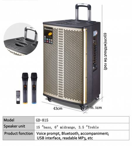 Trolley speaker bluetooth portable audio system sound wireless karaoke speaker