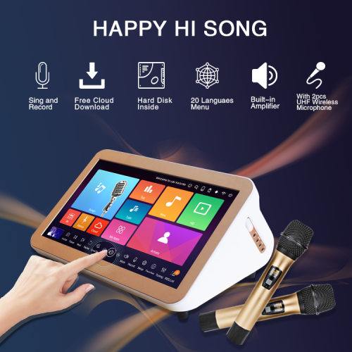 karaoke jukebox mini portable with amplifier wireless microphone for home party
