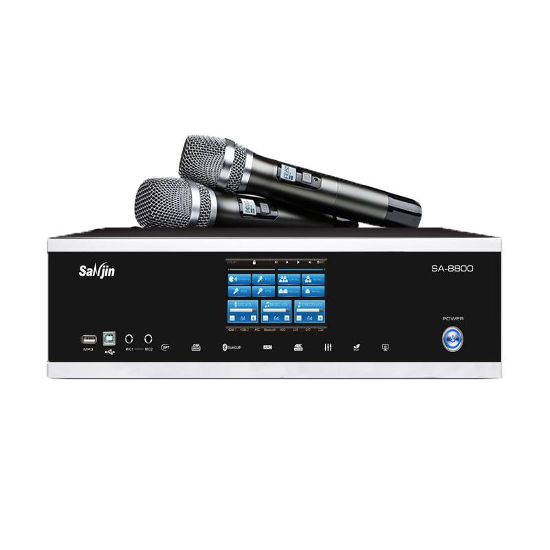 New power amplifier professional 3 in 1 karaoke digital touch amplifier with microphone Featured Image