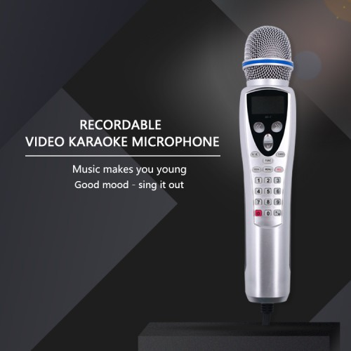 China Factory for Wireless Karaoke Machine - karaoke microphone player handheld mini videoke kids magic sing record player – sanjin