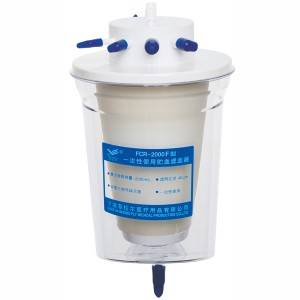 Blood container & filter for single use