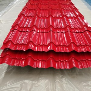 Factory Free sample Corrugated Tin Roof Sheets - Prepainted Corrugated Steel Sheet – Essar