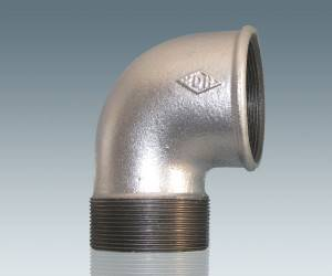 DIN Standard Beaded Malleable Iron Pipe Fittings