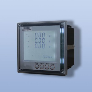 Three phase LCD embedded digital display multi-...
