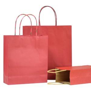 White Kraft paper bag customized