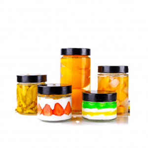 Glass kitchen storage jars