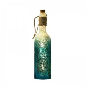 Hotsale decorative glass wine bottles that decorate lamps for the festive