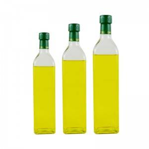 Wholesale Factory Green brown glass for olive oil bottle