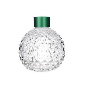 Wholesale Olive Oil Bottle Suppliers - Empty Round Clear Glass Aroma Bottle with Lid – Sogood