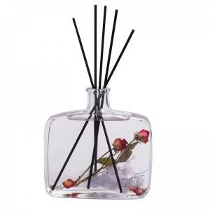 Essential oil reed glass diffuser bottle