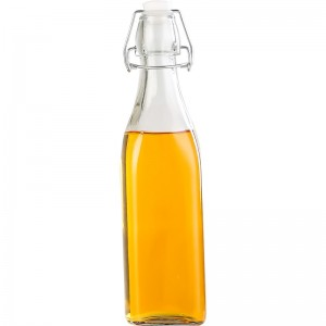 Clear Glass Jar with Clip Top Lids