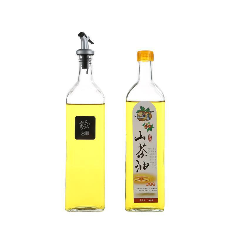 Wholesale Vinegar Bottle Factories - Wholesale 500ml Round Olive Oil Glass Bottle – Sogood