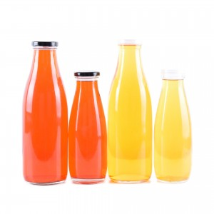 Empty Clear Glass Milk Bottle Drinking Glass Milk Storage Bottles