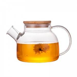 Free sample for Beehive Shaped Glass Jars - Factory clear custom teapot OEM cheap borosilicate glass teapot  – Sogood