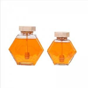 Hot hexagonal honey glass storage tank