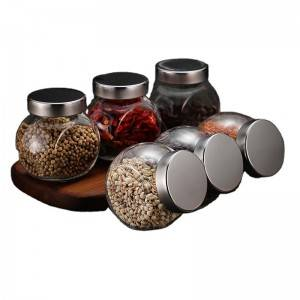 Glass Jar with Bamboo Lids
